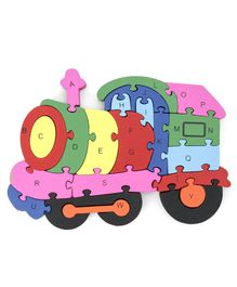 Tinykart Train Engine Alphanumeric Jigsaw Puzzle - Multicolor