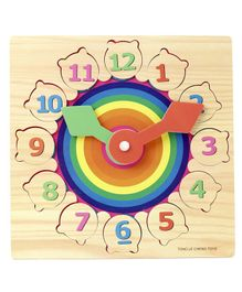 Tinykart Wooden Clock Toy - Multicolor