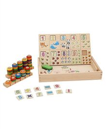 Tinykart Educational Number Learning Wooden Game - Multicolor