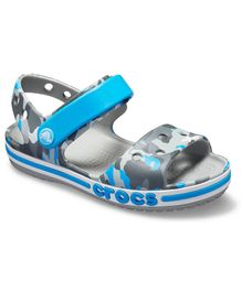 Crocs Bayaband Seasonal Graphic Sandals - Grey & Blue