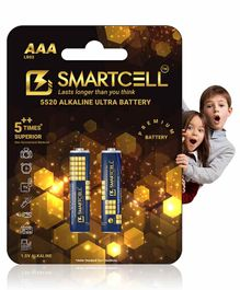 Smartcell 1.5V AAA Non Rechargeable Alkaline Battery - Pack of 2
