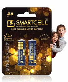 Smartcell 1.5V AA Non Rechargeable Alkaline Battery - Pack of 2