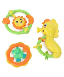 Ratnas Baby Rattles Multicolor - Set of 3