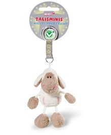 Nici Jolly Rosa Plush Talisminis Key Chain- Light Brown