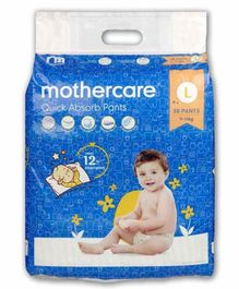 Mothercare Extra Absorb Pant Style Diapers Large - 58 Pieces
