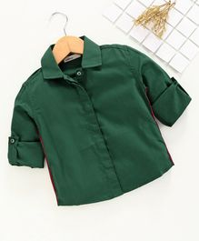 Adams Kids Side Tape Full Sleeves Shirt - Green