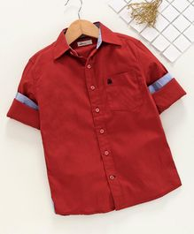 Adams Kids Solid Full Sleeves Shirt - Red