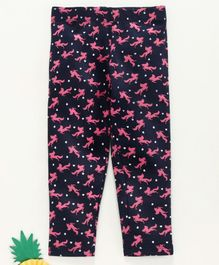 Adams Kids Full Length Unicorn Printed Leggings - Navy Blue