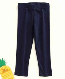 Adams Kids Elasticated Waistband Full Length Leggings - Navy
