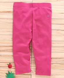 Adams Kids Solid Colour Full Length Leggings - Pink