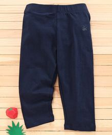 Adams Kids Solid Full Length Leggings - Navy