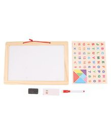 Tinykart Magnetic Slate with Alphabets Numbers and Shapes - Multicolor