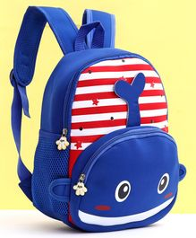School Bag Dolphin Design Blue - Height 13 Inches