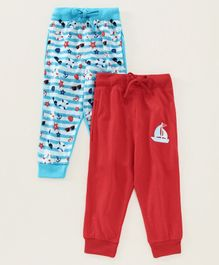 Eteenz Full Length Track Pant Pack of 2 - Blue Red