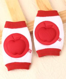 Babyhug Elbow & Knee Protection Pads - Red White
