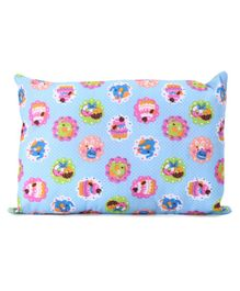 Rectangle Shaped Pillow Animal Print - Blue