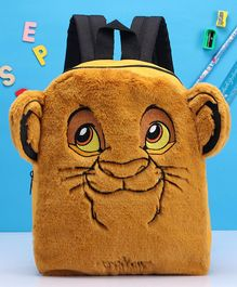 Fox Baby Backpack Lion Design Dark Yellow - 11 inches