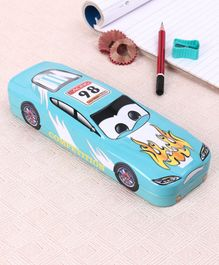 Car Shaped Pencil Boxes Pack of 2 - Blue