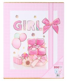 Baby Photo Album Girl Print - Pink