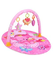 Play Gym With Butterfly Print Mat - Pink