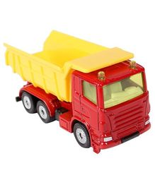 Siku Die Cast Funskool Truck With Tipping Trailer - Yellow & Red