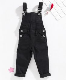 Vitamins Solid Dungaree with Pockets - Black