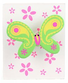 Butterfly Design Wooden Pencil Stand - Green