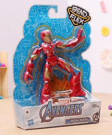 Marvel Flex and Bend Iron Man Action Figure Red - Height 14.5 cm