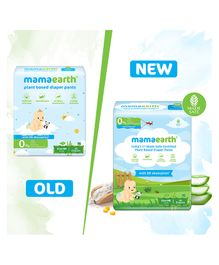 mamaearth Plant-Based Diaper Pants for Babies Size New Born - 40 Pieces