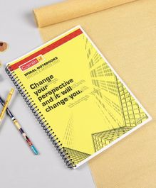 Camlin A4 Spiral Single Line Notebook Yellow - 192 Pages