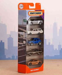 Matchbox Toy Cars Pack of 5 (Color May Vary)