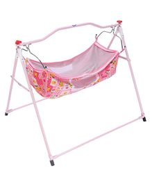 New Natraj Ghodiya Cradle Animal Print - Pink