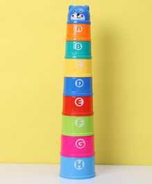 Alphabet & Number Stacking Cups Set of 9 - Multicolor