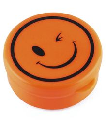 Collapsible Cup Smiley Design Orange - 200 ml