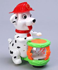 Battery Operated Musical Dog - White