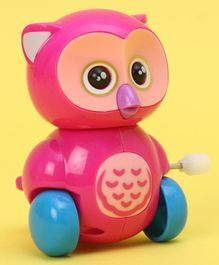 Owl Shaped Wind Up Toy - Pink