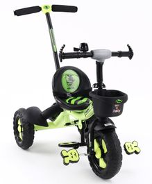 Tricycle With Parental Push - Green