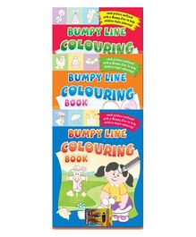 Sterling Bumpy Line Coloring Book with Color Crayons- Set of 3 Books
