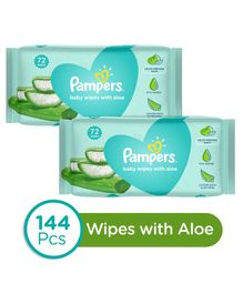 Pampers Baby Wipes with Aloe - 144 Pieces
