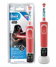 Oral-B Kids Electric Rechargeable Toothbrush Featuring Star Wars Characters - Red
