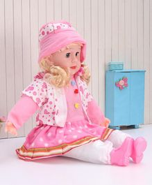 ToyMark Musical Fashion Doll Pink- Height 36.5 cm