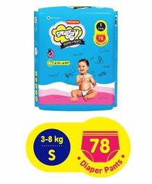 Snuggy Premium Baby Diaper Pants Small - 78 Pieces