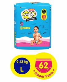 Snuggy Premium Baby Diaper Pants Large - 62 Pieces