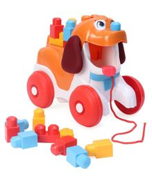 Mega Bloks Poopy the Puppy Pull Along Toy - Orange