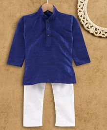 Ridokidz Full Sleeves Solid Colour Kurta & Pajama Set - Royal Blue