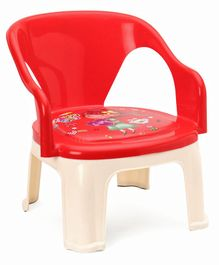 High Back Rest Chair Girl Print - Red (Print May Vary)