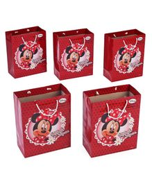 Disney Minnie Mouse Themed Gift Bags Red - Pack of 5