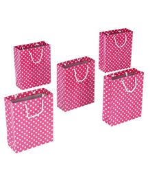 Karmallys Polka Dotted Gift Bags Pink - Pack of 5