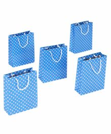 Karmallys Polka Dotted Gift Bags Blue - Pack of 5