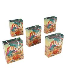 Karmallys Dino Themed Gift Bags Multicolour - Pack of 5